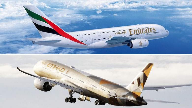 Emirates and Etihad among top airlines in 2018