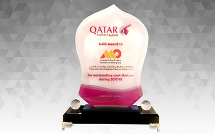 Qatar Airways Gold Award for outstanding contribut