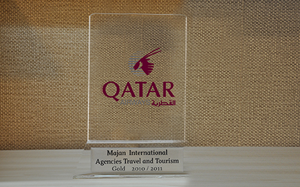 Majan Travel received gold award from Qatar Airway